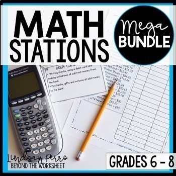 Math Stations for Middle School Mega Bundle