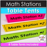 Math Stations Table Tents FREEBIE