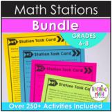 Middle School Math Stations: THE MEGA BUNDLE
