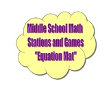 Common Core Math Stations and Games - Equation Mat