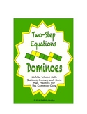 "Common Core Math Stations and Games - ""Dominoes"" Two-Step Equations"