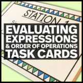 Middle School Math Stations:  Evaluating Expressions and O