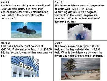 Middle School Math Task Card Bundle ~ 12 sets of task cards