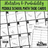 Middle School Math Task Cards: Statistics & Probability {Grade 8: Set 8}