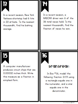 Middle School Math Task Cards: The Number System {Grade 8: Set 3}
