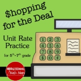 Shopping for the Deal - A Middle School Math Unit Rate Activity