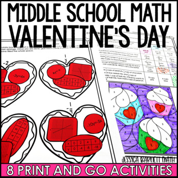 Middle School Math Valentines Activities by Jessica Barnett