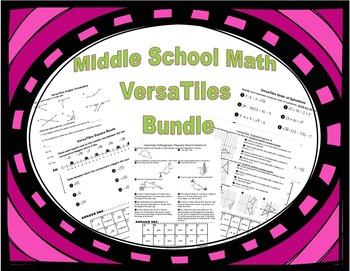 Middle School Math VersaTiles Worksheets Bundle