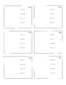 Middle School Math Number Sense Warm-Up Cards Sample