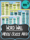 Middle School Math Word Wall
