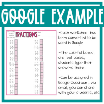 Middle School Math Worksheets!