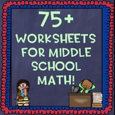 7th Grade Math Worksheets for the Entire Year Bundle