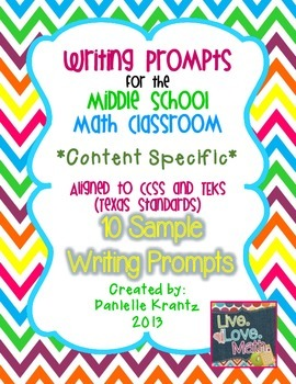 Math Writing Prompts - FREE SAMPLE