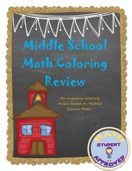Middle School Math/Algebra/Pre-Algebra/Complete Coloring Review