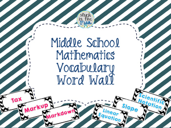 Middle School Mathematics Vocabulary Cards