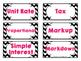 Middle School Mathematics Vocabulary Cards