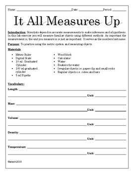 Middle School Measurement Lab Part 1