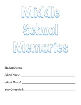 Middle School Memory Book Project