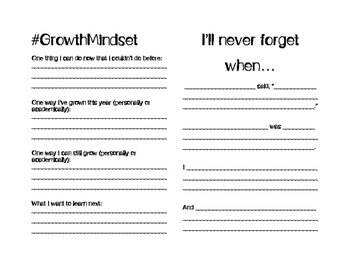 Middle School Memory Book *not editable--see other listing for Word Version!*