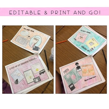 Memories of My School Year: End of Year Reflection Journal EDITABLE