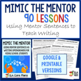 Middle School Mentor Sentences Daily Writing ~ Perfect for