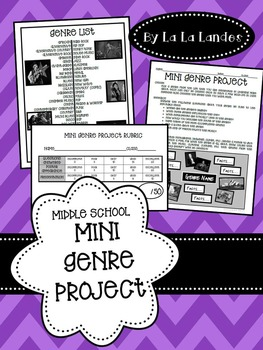 Genres Mini Project for Middle School