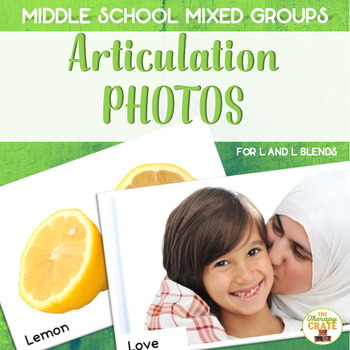 Middle School Mixed Group Articulation Photos for L and L Blends