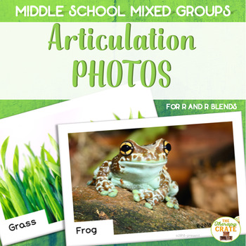 Middle School Mixed Group Articulation Photos for R and R Blends