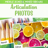 Middle School Mixed Group Articulation Photos for S and S Blends