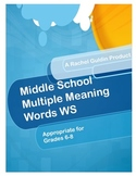 Multiple Meaning Words WS
