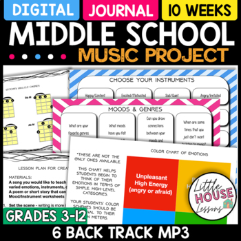 Middle School Music - Music and Emotions 10-Week Unit