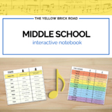 Middle School Music Interactive Notebook