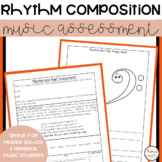 MUSIC : Assignment for Middle School students - Rhythm and Rap