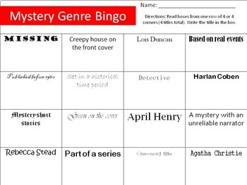 Middle School Mystery Genre Activities; 22 p. + PPT game