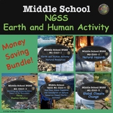 Middle School Science Earth and Human Activity BUNDLE