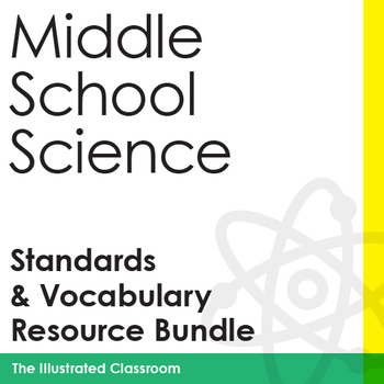 Middle School NGSS I Can Statements, Word Wall, Crosswords, & Assessments Bundle