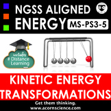 Middle School NGSS MS-PS3-5 Kinetic Energy Transfer