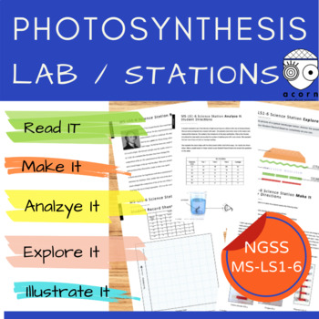 Middle School NGSS Photosynthesis LAB MS-LS1-6