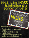 Middle School NGSS Poster Bulletin Board for Physical Science