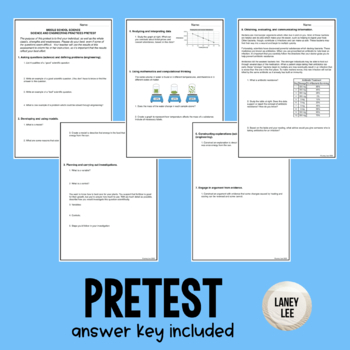 Middle School NGSS Pretest and Reflection