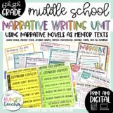 Middle School Narrative Essays Writing Unit | 6th 7th 8th Grade | Narratives |