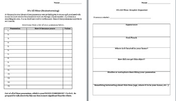 Writing - Getting to Know you Activity