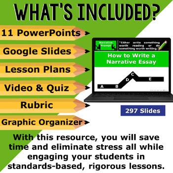NARRATIVE WRITING PROMPTS BUNDLE - 11 Lessons!!!!! - Middle School