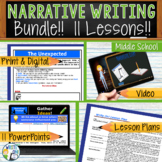 Narrative Writing Lessons Prompts BUNDLE!! w/ Digital Resources  11 Lessons!