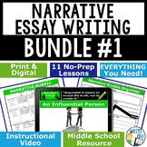 Narrative Writing Personal Narrative Essay Bundle | 11 Lessons | Print & Digital