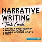 Middle School Narrative Writing Task Cards-Practice Before