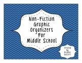 Middle School Non-Fiction Graphic Organizers