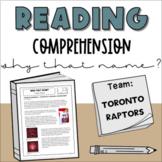 Middle School Nonfiction Reading Comprehension: Toronto Ra
