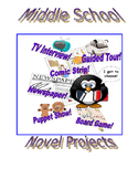 Middle School Novel Project Packet with Common Core Alignment