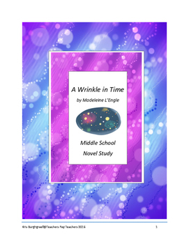 Middle School Novel Study (A WRINKLE IN TIME)--Common Core